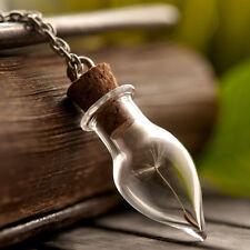 Wish necklace, dandelion necklace, glass vial necklace handmade necklace pendant