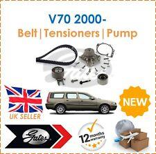 Für V70 2.4TDi 20V 2000- Gates Zahnriemen+Spanner+Wasserpumpe Set Neu