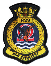 829 NAS Naval Air Squadron Royal Navy 2017 Crest MOD Embroidered Patch
