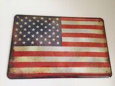 Blechschild Länder Fahne National Flagge Amerika U.S.A United States US 25