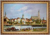 Ölbild Straubing um 1840, Ed. Gerhardt, ÖLGEMÄLDE HANDGEMALT F:60x90cm