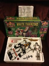Mmpr Power Rangers White Tigerzord Megazord Almost Complete In Box!