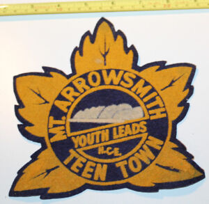 Mt. Arrowsmith Youth Leads NCE Teen Town Vancouver Island Vintage Patch Badge