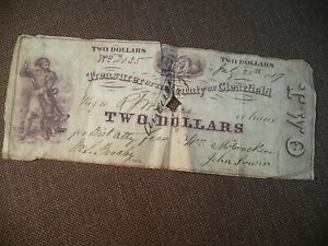Rare 1959  County of Clearfield Pa Two Dollar Obsolete Note No 2035