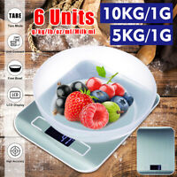 5kg/1g 10kg/1g LCD Digital Automatic Kitchen Scale+Bowl Weight Diet Food Balance