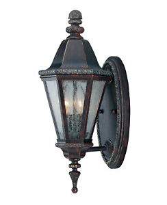 Savoy House KP-5-204-52 Canterbury Bark and Gold Two Light Wall Mount Outdoor