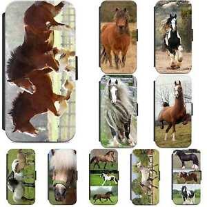 British Horse Pony Equestrian Horses Flip Phone Case Wallet Cover iPhone Samsung