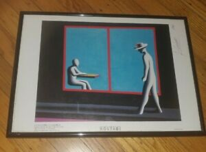 Kostabi Framed Print 16x12 sadness because the video store closed hand signed