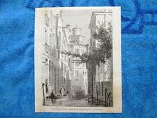 Gravure Année 1862 - Palais Bianca Capello(Venise-Italie/Venezia-Italia)