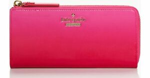 Kate Spade PWRU4190 Cedar Street Ombre Nisha Zip Wallet PINK OMBRE NWT Rare!!
