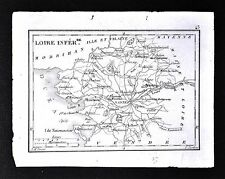 1833 Perrot Tardieu Map - Loire Inferiore - Nantes Ancenis Savenay - France