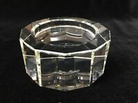 "Rosenthal Crystal 12-Sided Pillar Candle Holder, 4 1/4"" Widest x 2"" High"