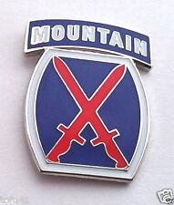 10TH MOUNTAIN DIVISION  Military Veteran US ARMY Hat Pin 15391 HO