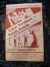 Partition Coeur Vendéen Patati Patata Roger Dufas 1950  Bal Musette