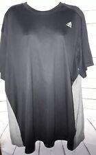 Adidas Mens Tshirt Black Gray Polyester Size L F02