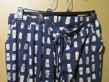 Ladies XXL Sonoma lounge sleep pajama pants Coffee Latte Blue pink  (8-180O)