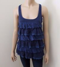 NEW Hollister Womens Ruffle Lace Tank Top Size Large Shirt Blouse Cami Racerback