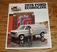 Original 1978 Ford Econoline Sales Brochure 78 Van