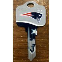 Great Gift Idea NFL NEW ENGLAND PATRIOTS KWIKSET KW1, KW10, KW11 UNCUT KEY BLANK