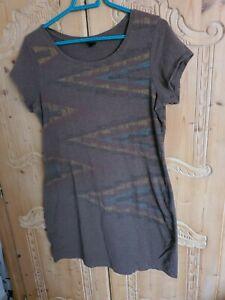 PERUVIAN CONNECTION * T-Shirt-Kleid * L * braun * Baumwolle