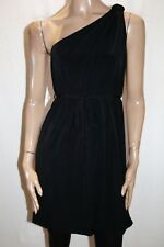 HOT OPTIONS Brand Black One Shoulder Knot A Line Belted Dress Size 12 BNWT #TP48