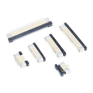 FPC Connector 4P 0.5mm Pitch Connected Up and Down 4P - 60P Pins - Various Size