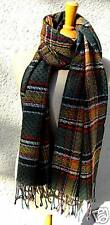foulard en laine herrnschal NEUF multicolore marron étoffe de laine