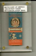 Match Book Corporation of America, 1965 Detroit Tigers Schedule