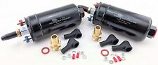 2 NP BOOSTED 900HP EFI EXTERNAL HIGH FLOW FUEL PUMPS CONNECTORS 044 BOSCH STYLE