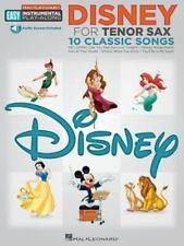 Disney : Tenor Sax Easy Instrumental Play-Along Book with Online Audio Tracks