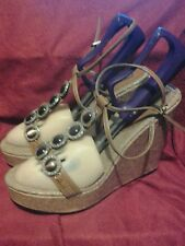 Michael Antonio PLATFORM  WEDGE SANDALS ANKLE STRAP WOMEN'S SIZE 8..5