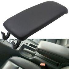 Leather Armrest Center Console Lid Cover for 2002-2005 Audi A4 S4 A6 S6 Black