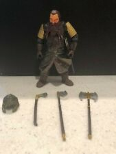 Toy Biz Lord of the Rings 2x GIMLI Loose Figure Complete Australian Exclusive