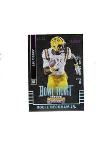 Odell Beckham Jr. LSU NCAA WR 2015 Panini Contenders Draft Picks Bowl Ticket /99