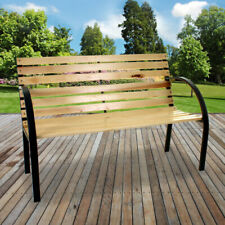Outdoor Garden Bench 2 Seater Slat Design Furniture Park Bench