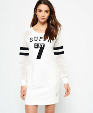 Superdry College Tribe Sweat Dress Dresses M-dusty Ecru