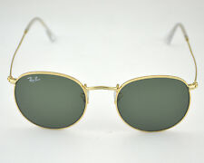 Ray-Ban RB3447 Round Metal 001 Gold Frame/ Green Classic G-15 Lens  50mm New!