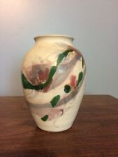 "Cooper Mays Pottery Vase Urn 5.5"" Bisque Finish North Carolina Signed"
