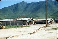 Korea Korean War Military Camp Barracks 1950s 35mm Slide Red Border Kodachrome