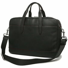 Authentic new Coach Black Leather Hamilton Laptop Bag Briefcase F11312 NILET