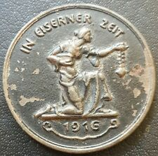 ✚8615✚ German WW1 Gold Donation Commemorative Iron Medal 1916 IN EISERNER ZEIT