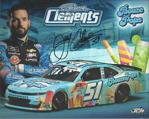 2021 JEREMY CLEMENTS BOOZE POPS #51 NASCAR XFINITY POSTCARD Autographed