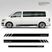 Volkswagen VW EDITION Transporter Side Stripe Set Decals T5 T6 Vehicle Graphic