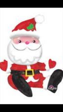 Amscan International 3398701 Sitting Santa Foil Balloon