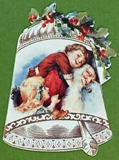 Victorian Christmas Ornament Old Fashoined Santa w/Children in Bell