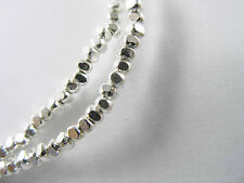 Karen Hill Tribe Silver 220 Faceted Seed Beads 1.8x1 mm.13 inches