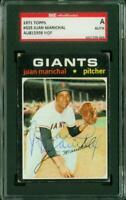 SGC Authentic Original Autograph of Juan Marichal HOF, Giants on a 1971 Topps