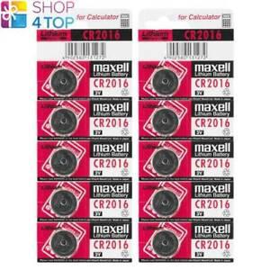 10 MAXELL CR2016 LITHIUM BATTERIES 3V COIN CELL DL2016 ECR2016 EXP 2023 NEW
