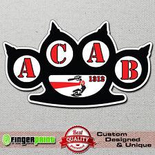 ACAB 1312 sticker decal vinyl bumper hools hooligans police cops fight ultras
