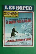 L'Européen 1968 Catherine Milinaire Tremblement Terre Sicile Julie Christie C.